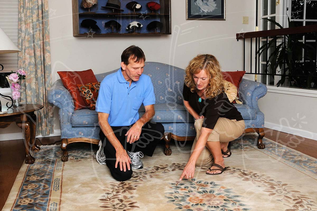 Inspection Discussion Photo Example for Your Carpet Cleaning Business