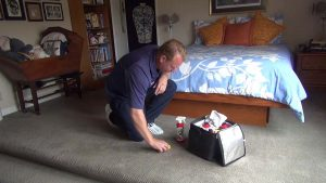 Spot Cleaning Scene For Your Carpet Cleaning Marketing Video