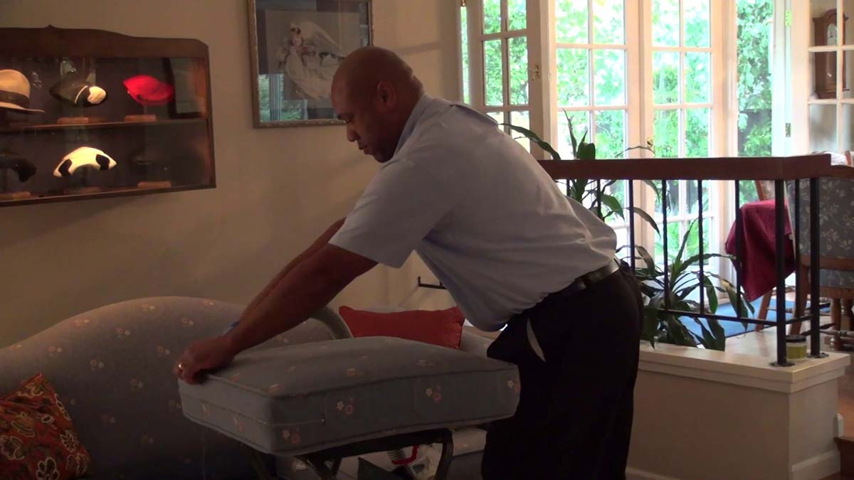 Upholstery Cleaning Scene For Your Carpet Cleaning Marketing Video